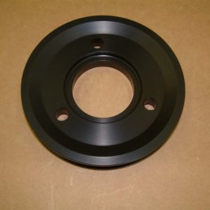 BBC Crankshaft Pulley 5in Hard Anodized Billet Aluminum